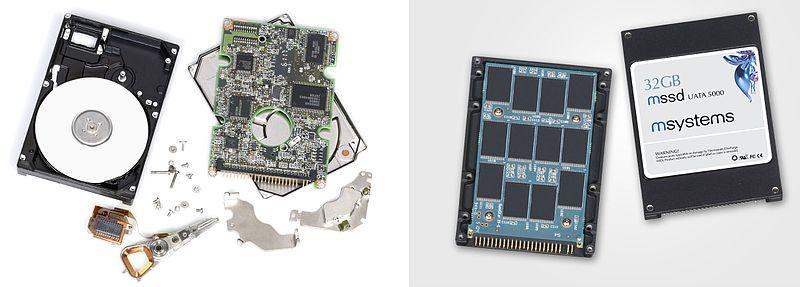 Diferencias entre discos HDD y SSD