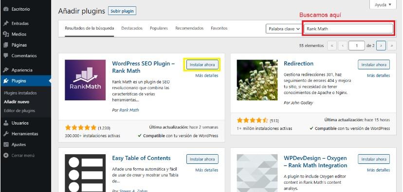 Cómo buscar e instalar un plugin desde el repositorio de WordPress