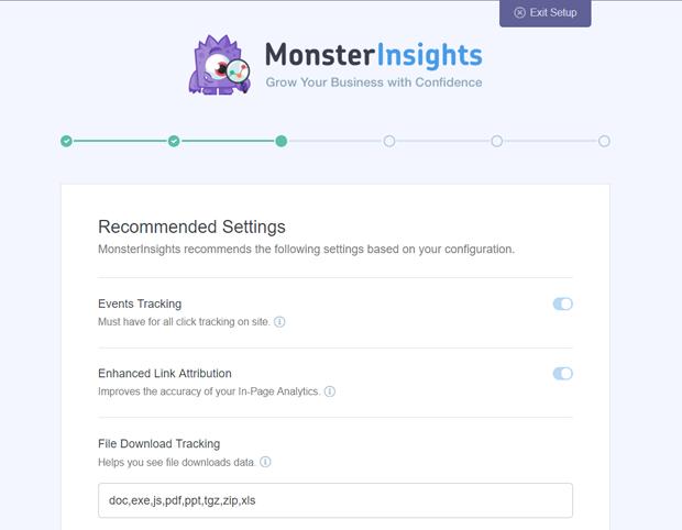 MonsterInsights-Configuracion-Recomendada