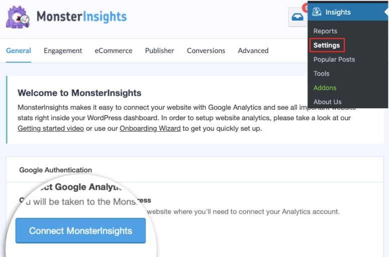 Monsterinsights-Configuracion