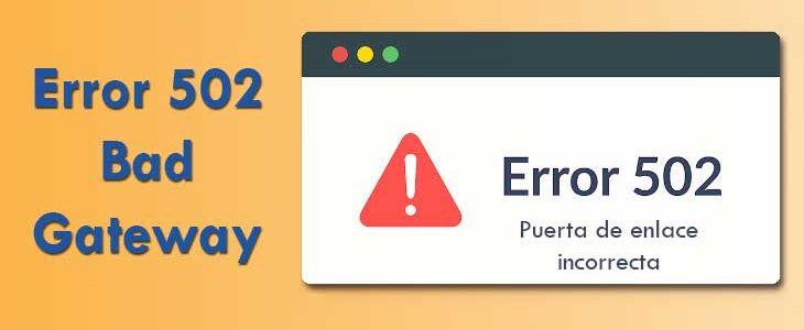 Error 502- Imagen Destacada