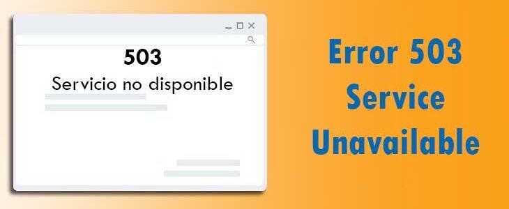 Error 503 Service Unavailable- Imagen de portada