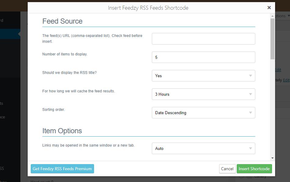RSS Feeds Feedzy- Creación de shortcode y categoría.