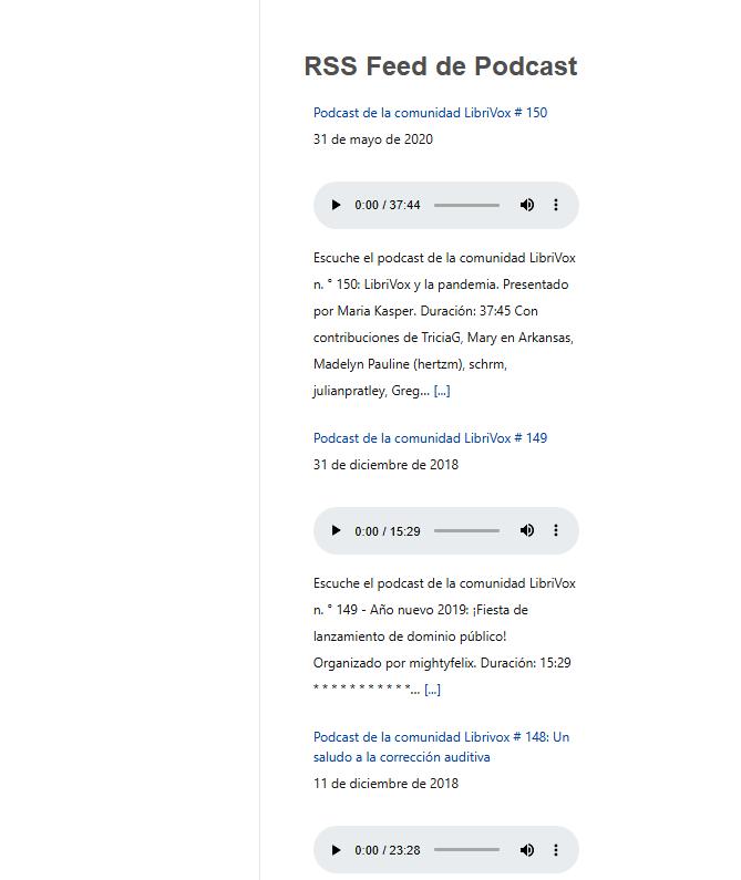 uper RSS Reader plugin-Modelo de feed para podcast