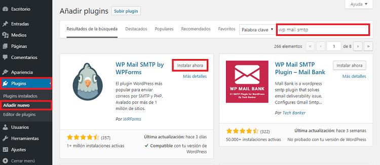 WP Mail SMTP PLUGIN-Instalación