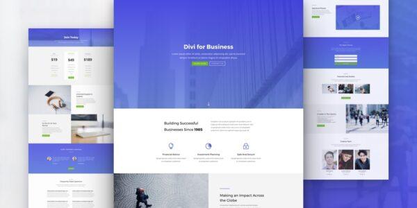 Página web para negocios hecha con DIVI