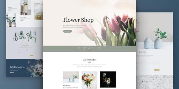 Plantillas Divi para floristería