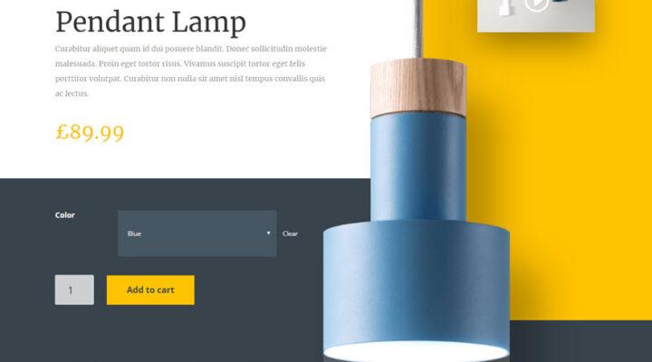 Página de producto profesional con diseño responsivo intercalado.